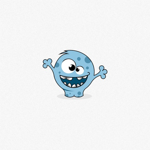 Cute animal or monster for a kids language learning app