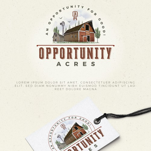 Logo design for an organic dairy farm