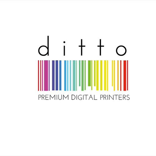 Design a clean edgy colourful logo for digital printing services in the art district.