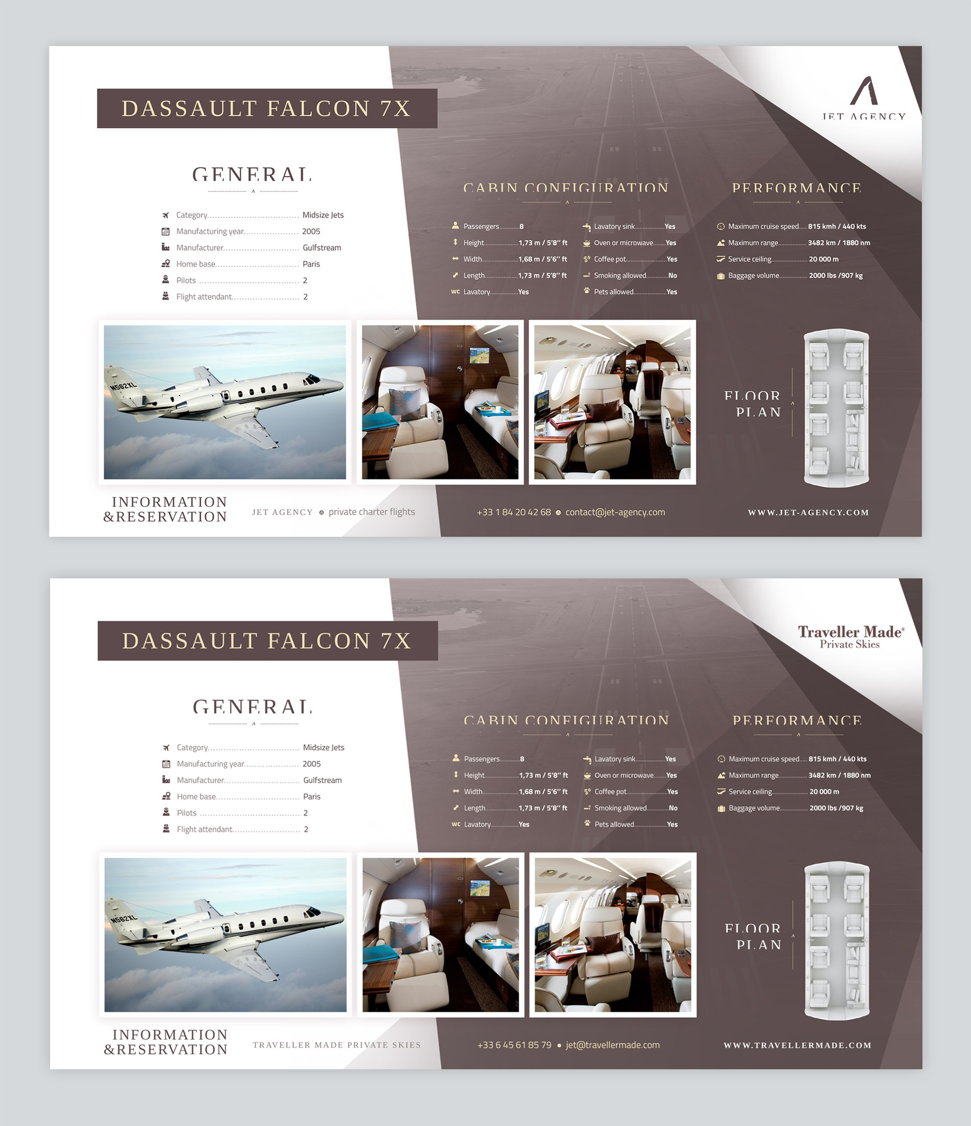 New private jets presentation for Jet Agency! .ppt or .doc template