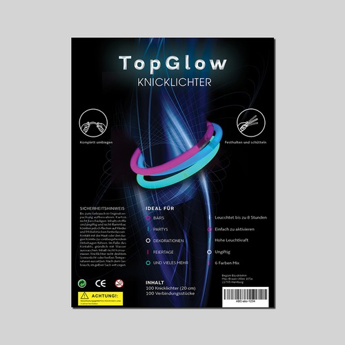 Package Design for Glow Sticks