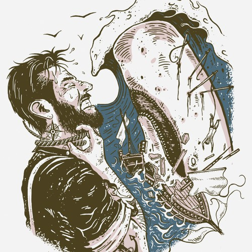 Moby Dick T-shirt Design