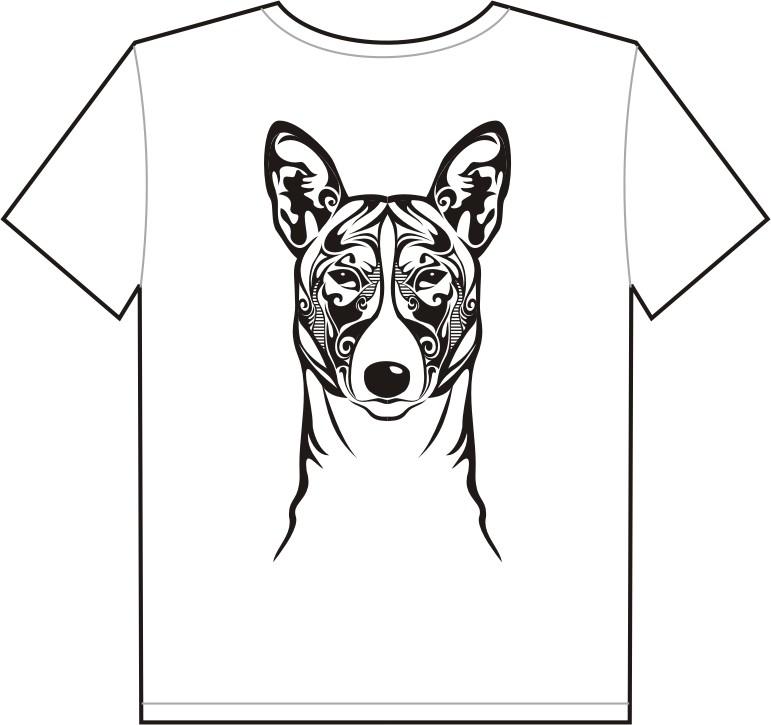 Create the next t-shirt design for The Basenji