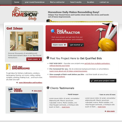 Website Design - HomeShowDaily