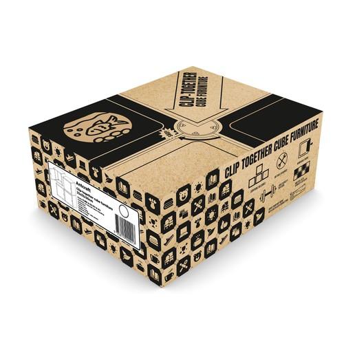 Package design for innovative clip together furniture