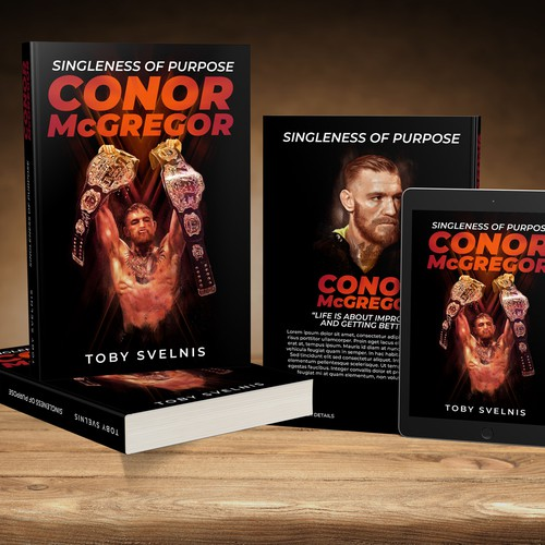 Cover design for Connor Mcgregor.