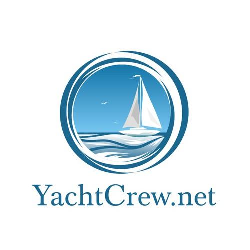 YachtCrew logo design.