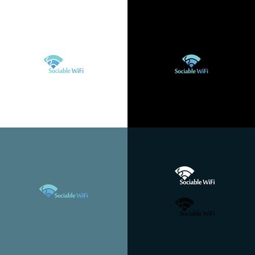 Logo design for Sociable Wifi.