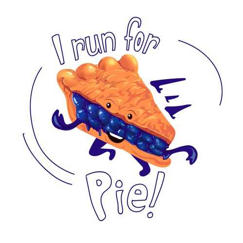 I run for Pie! Design Concept