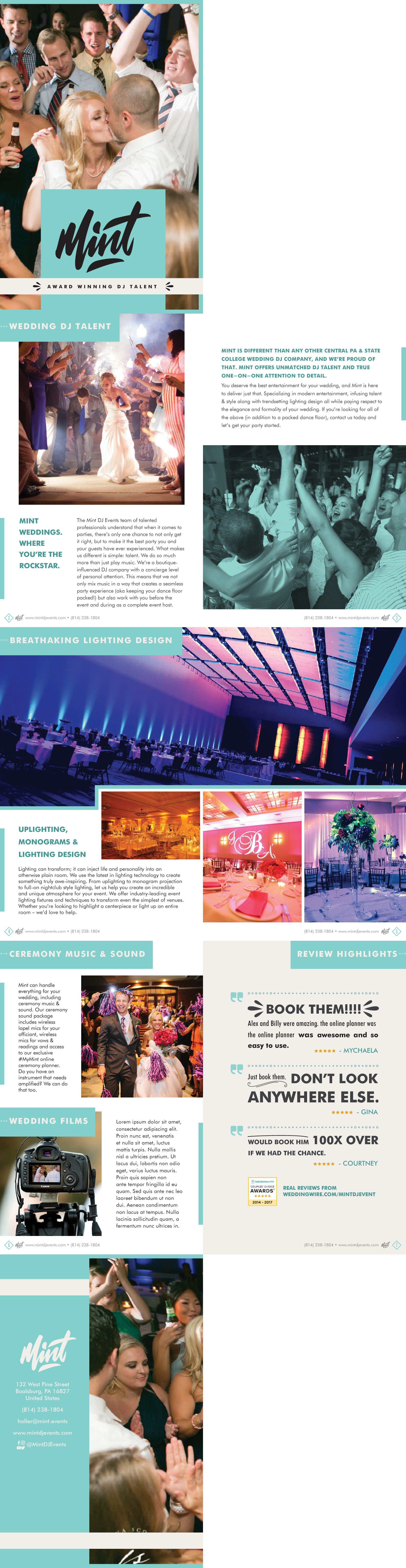 Create a Wedding Booklet for Mint DJ Events