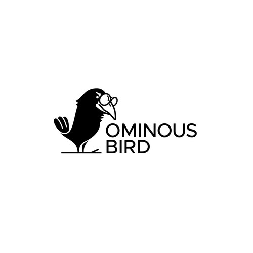 Crow logo concept for the Ominous Bird contest