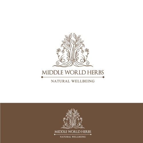 Winning design for Middle World Herbs.