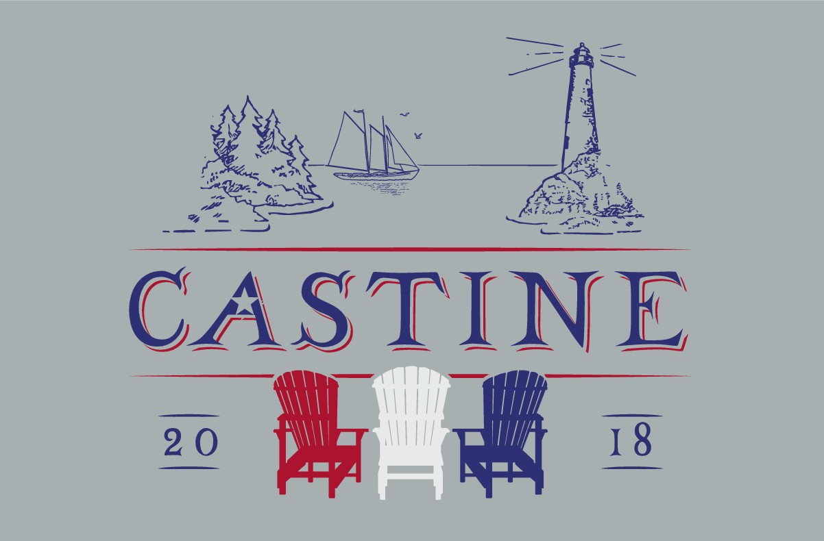 Cool logo for company summer retreat to coastal Maine for shirts, hats, etc