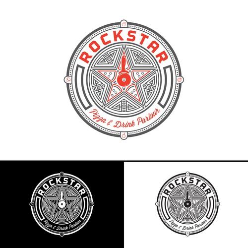 Rockstar Pizza logo