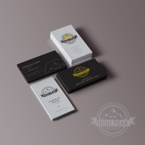 Logo & Business Card Design For High-Peak Development