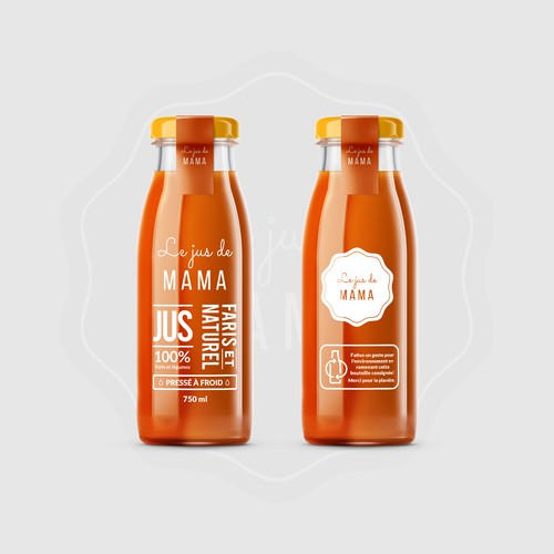 Juice label design