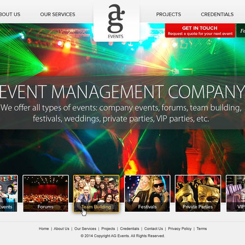 Website design for AG Events :-)