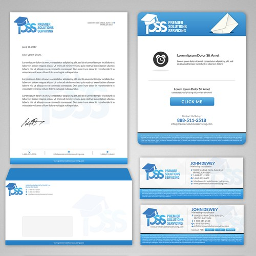 pss letterhead, email, postcard templates