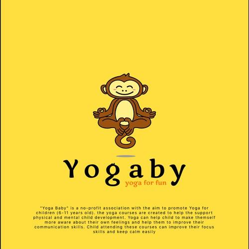 Logo design concept for yoga courses