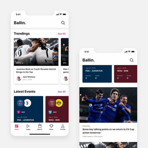 Design for Football App