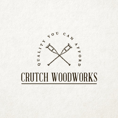 Vintage and Classic Logo Design for Hand Made Wood Products