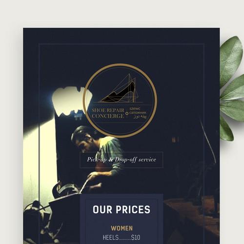 Shoe Repair Service Brochure
