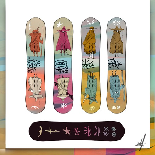 Custom Snowboard Design - WildWestSHootzx