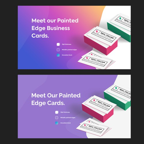 Painted Card , Banner ad .