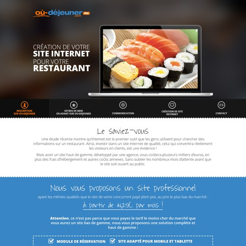 Design me a commercial catch eye website for my potential restaurant customers
