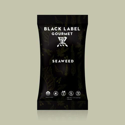 Black Label Gourmet-Seaweed Package Design
