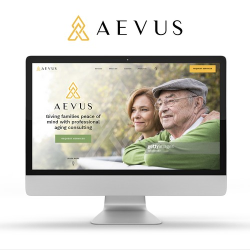 Aevus A redesign to create an elegant yet simple to use site for Aging Consulting