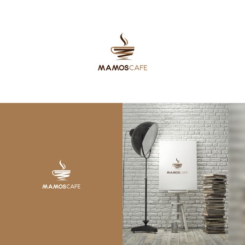 coffee cup MC letter,mamos cafe