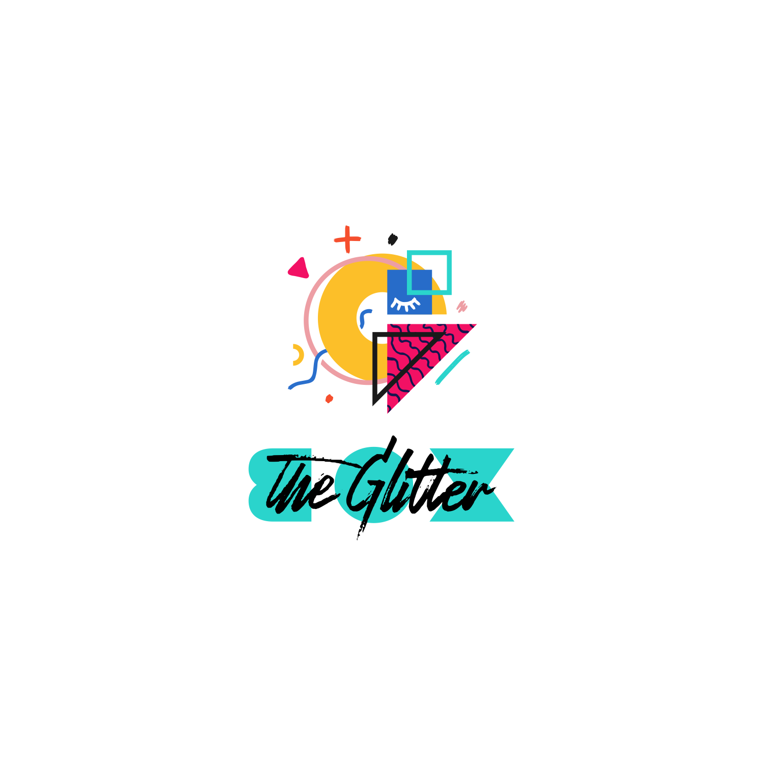 Lets get this Glitter out of its box Interior Design Blog Logo