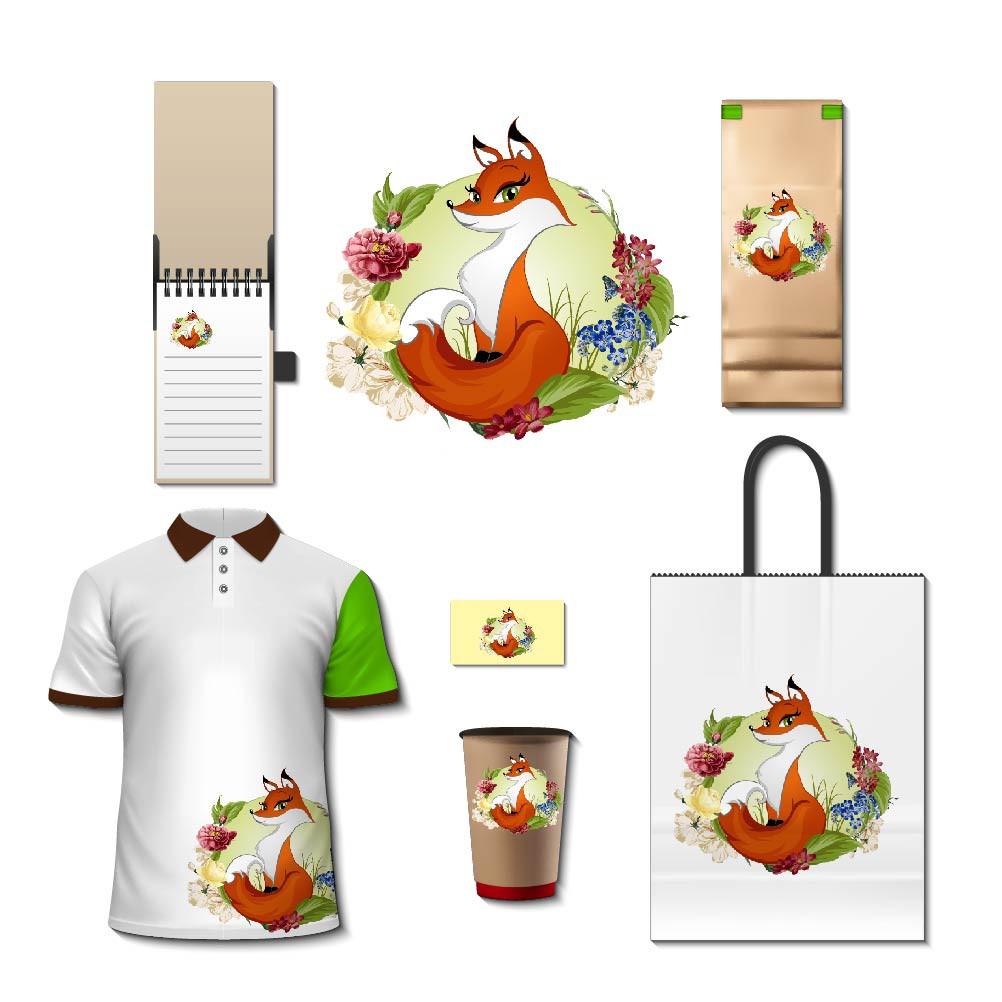 Design a fox illustration for Vegan Fox