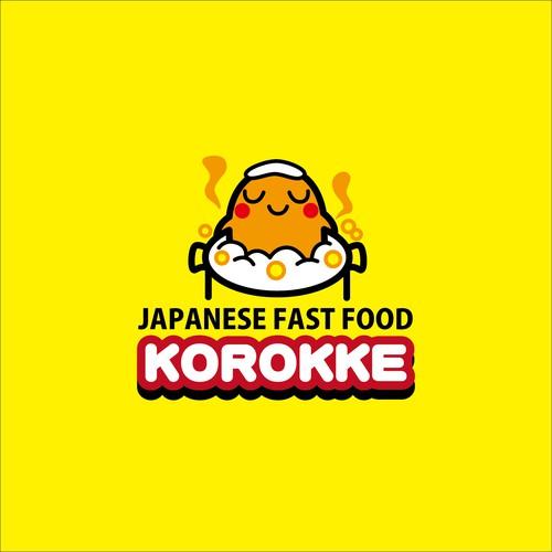 ファストフード店のキャラクターロゴ
