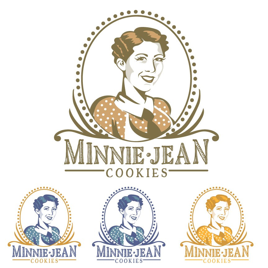 old fashion women logo for cookies brand