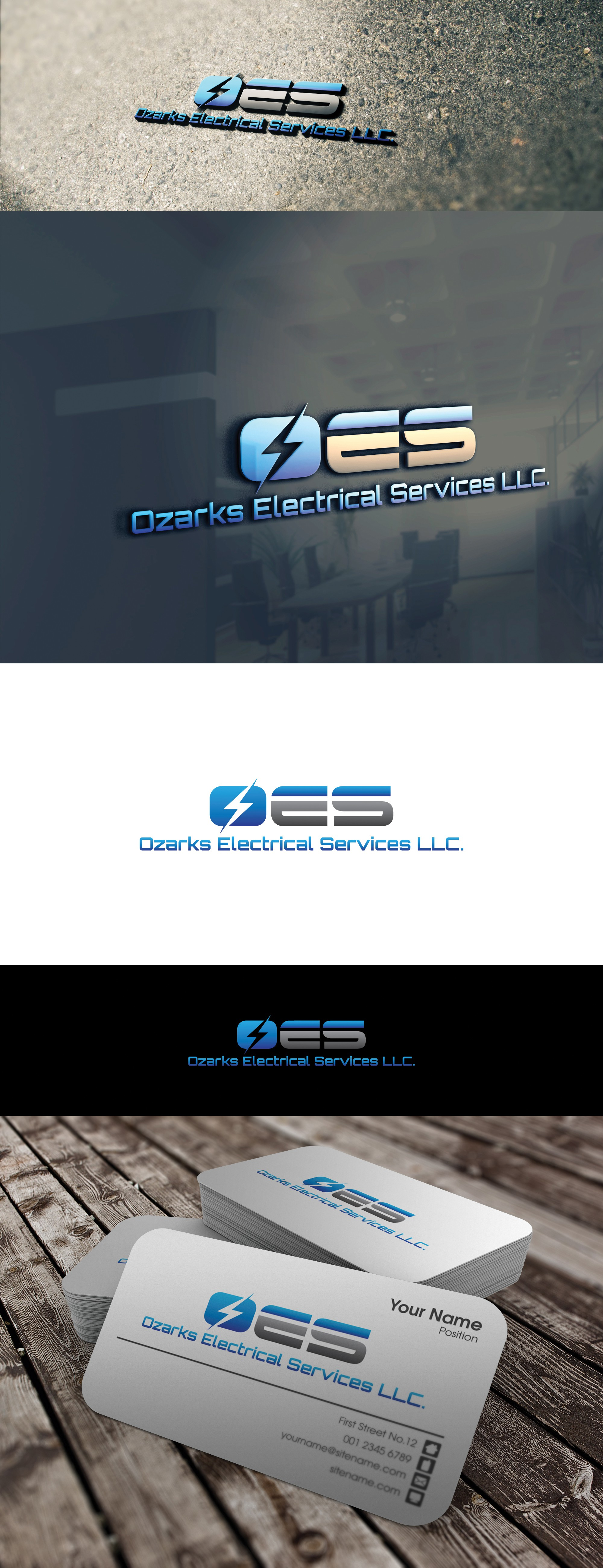Create a prestige eye catching electrical contracting logo for Ozarks Electrical Services LLC.