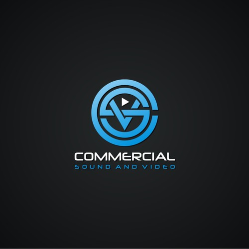 Create the next logo for Commercial Sound and Video