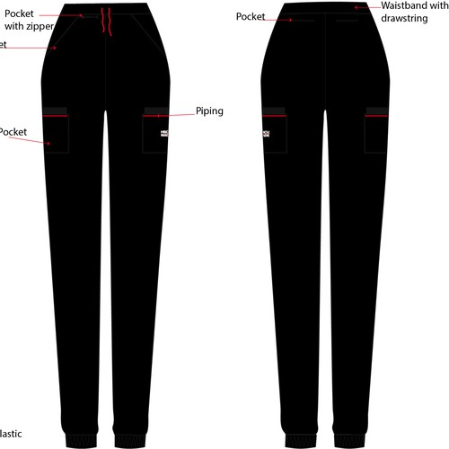 Pants for healthcare professionals