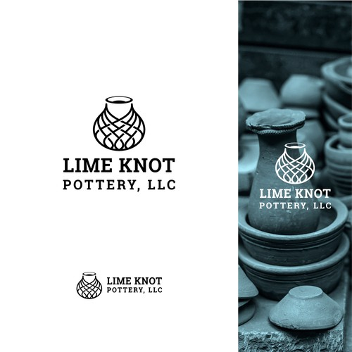Lime Knot Pottery Logo Concept