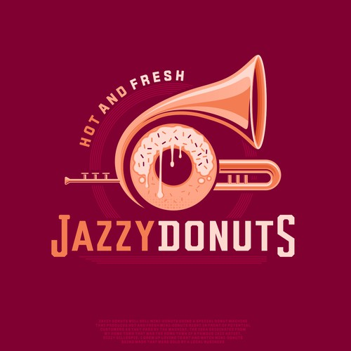 Jazzy Donuts Logo Designs