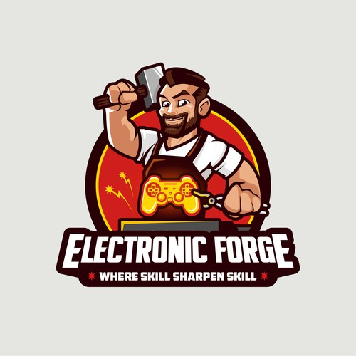 Electronic forge logo