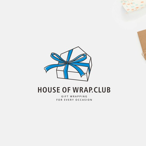 Logo concep for gift wrapping service
