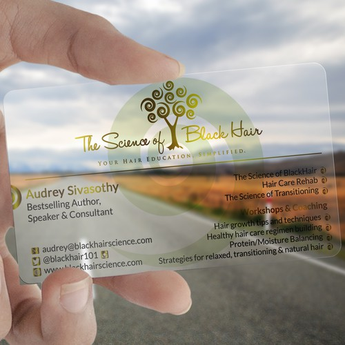 Unique Business Card for Hair/Beauty Author & Speaker