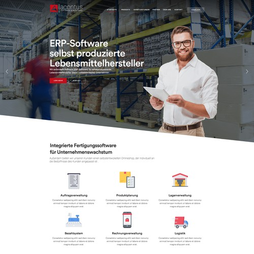 ERP Software Web Design