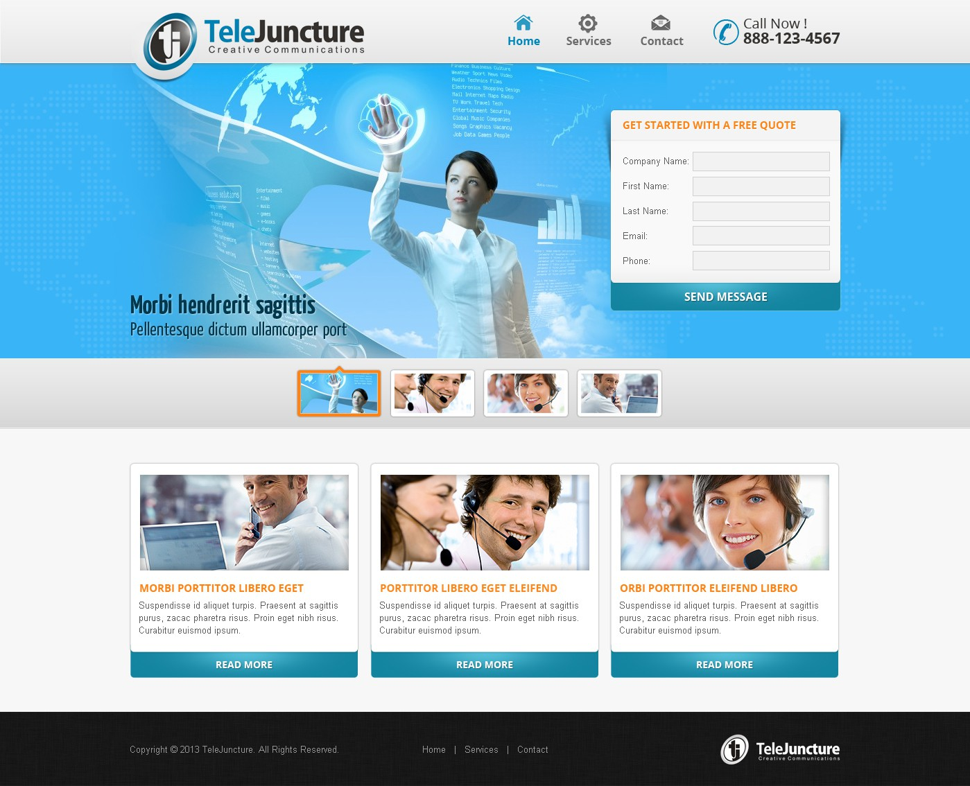 New website design wanted for http://www.telejuncture.com