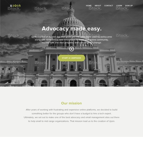 Ujoin landing page
