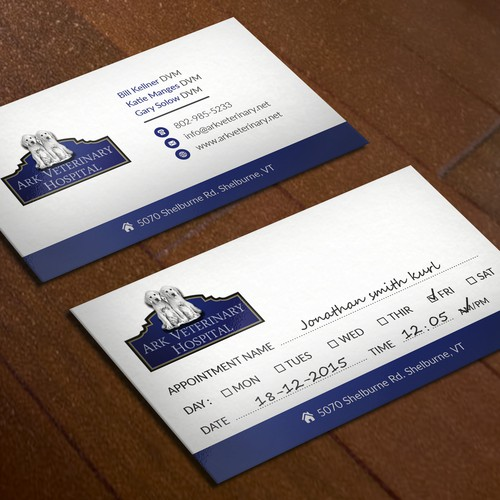 Veterinary Hospital Business Card design