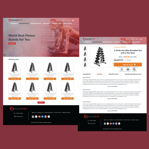 new website for a global fitness store