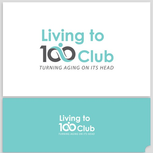 Living to 100 club logo design